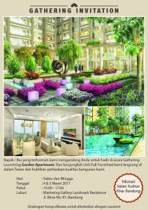 Gathering Invitation - Launching Garden Apartment